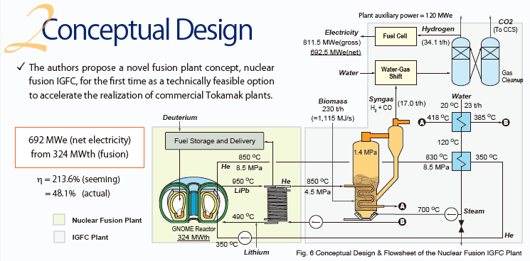 Presentation) Nuclear Fusion Integrated Biomass Gasification